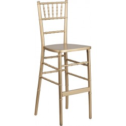 Gold Wood Chiavari Barstool