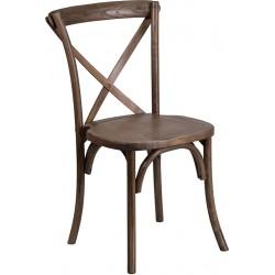 Wood Cross Back Chair...